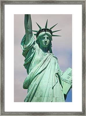 Statue Of Liberty, New York, Usa Framed Print by Peter Adams