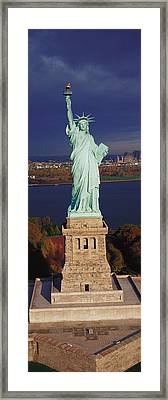 Statue Of Liberty, Nyc, New York City Framed Print by Panoramic Images
