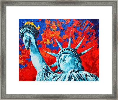Statue Of Liberty - Lady Liberty Framed Print by Patricia Awapara