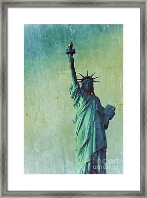 Statue Of Liberty Framed Print by Sophie Vigneault