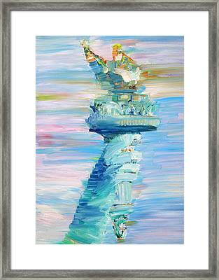 Statue Of Liberty - The Torch Framed Print