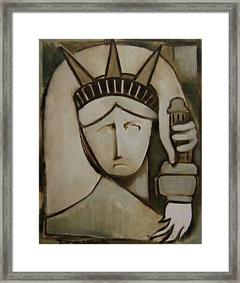 Tommervik Abstract Statue Of Liberty Art Print Framed Print by Tommervik
