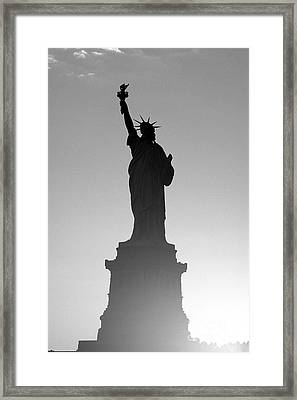 Statue Of Liberty Framed Print by Tony Cordoza