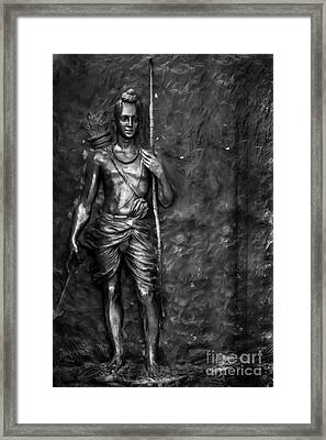 Statue Of Lord Sri Ram Framed Print
