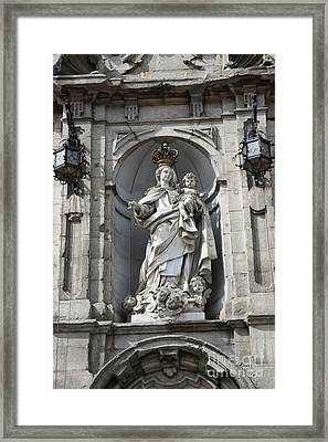 Statue Of Mary In Madrid Framed Print by Carol Groenen