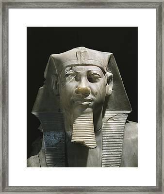 Statue Of Menkaure. 2490 - 2472 Bc Framed Print