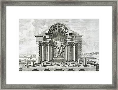 Statue Of Olympian Zeus Framed Print by Johann Bernhard Fischer von Erlach