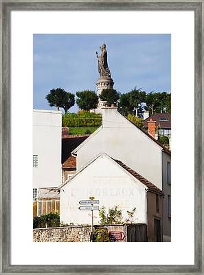 Statue Of Pope Urban II At Chatillon Framed Print by Panoramic Images