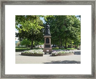 Statue Of Queen Victoria In Victoria Framed Print by Panoramic Images