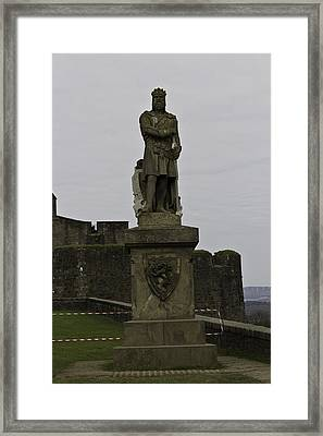 Statue Of Robert The Bruce On The Castle Esplanade At Stirling Castle Framed Print