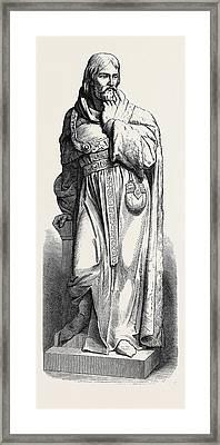 Statue Of Sir Michael De La Pole At Hull 1871 Framed Print by English School