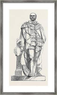 Statue Of The Duke Of Sussex Framed Print by English School