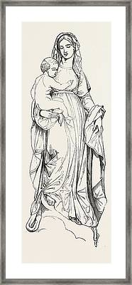Statue Of The Madonna Framed Print by Louis Jehotte, Brussels, Belgian, 19th Century