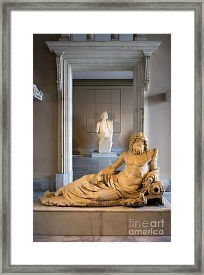 Statue Of The Oceanus Framed Print