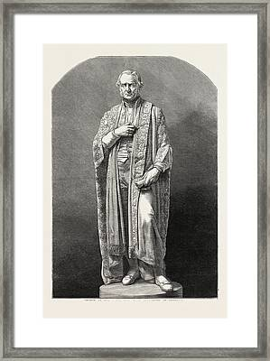Statue Of The Right Hon. W.e Framed Print by English School