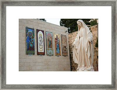 Statue Of The Virgin Mary, Mother Framed Print