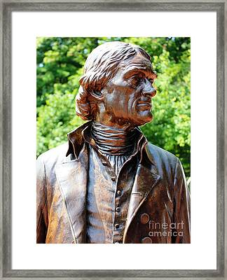 Statue Of Thomas Jefferson Framed Print