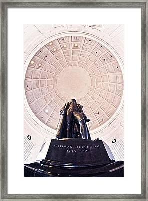 Statue Of Thomas Jefferson Framed Print by Panoramic Images