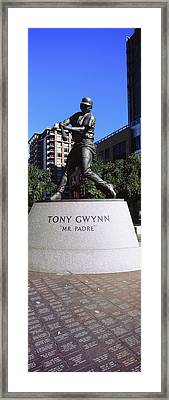 Statue Of Tony Gwynn At Petco Park, San Framed Print