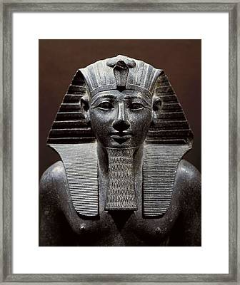 Statue Of Tuthmosis IIi. 1490 -1439 Bc Framed Print by Everett