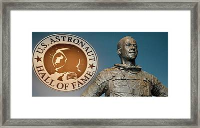 Statue Of Us Astronaut Alan Shepard Framed Print by Tony Craddock