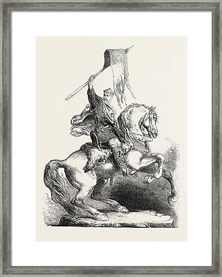 Statue Of William The Conqueror Framed Print by English School