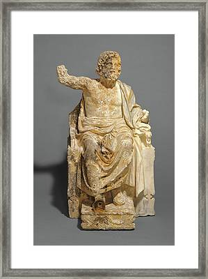 Statue Of Zeus Enthroned Unknown About 100 B Framed Print by Litz Collection