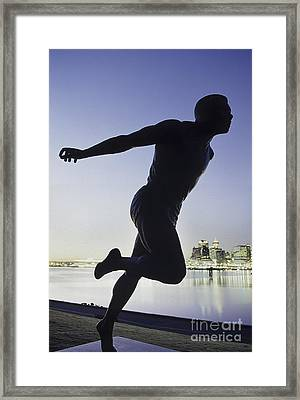 Statue Vancouver Canada Framed Print by Ryan Fox