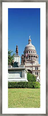 Statue With A Government Building Framed Print by Panoramic Images