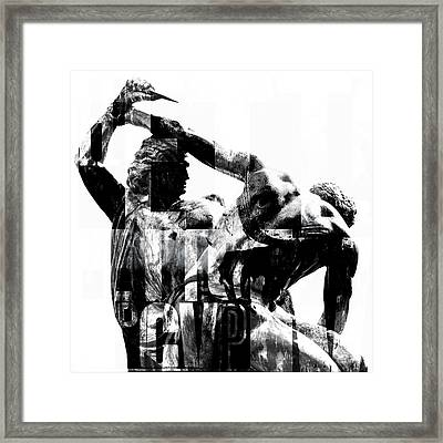 Statue With Texture Framed Print by Tommytechno Sweden