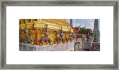 Statues At A Temple, Wat Phra Kaeo Framed Print by Panoramic Images
