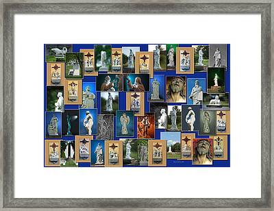 Statues Collage Framed Print by Thomas Woolworth