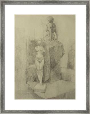 Statues Framed Print by Cynthia Harvey