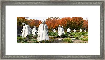 Statues Of Army Soldiers In A Park Framed Print by Panoramic Images