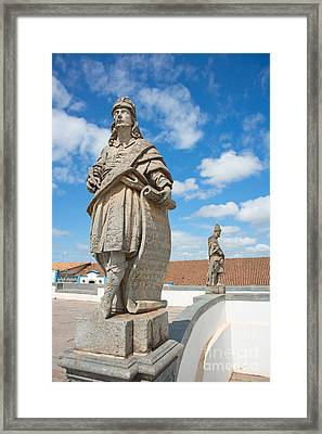 Statues Of Prophets Framed Print by David Davis