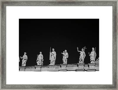Statues On Mary, Queen Of The World Framed Print