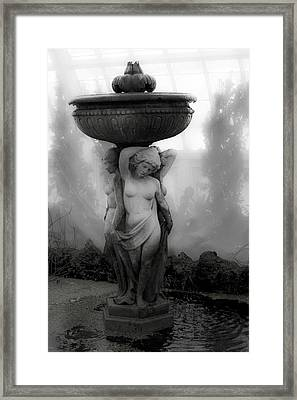 Stature In The Mist Framed Print