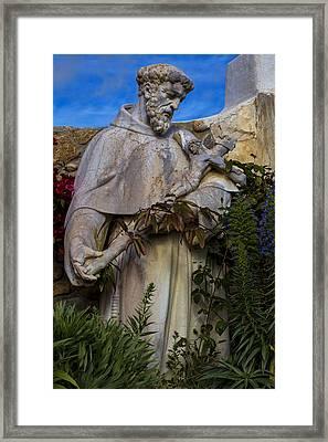 Stature Of Father Junepero Serra  Framed Print