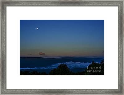 Stawberry Moon Allegheny Ridges Framed Print by Thomas R Fletcher