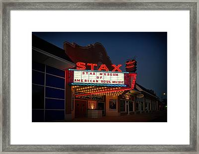 Stax Museum Of American Soul Music Framed Print
