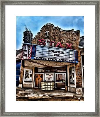 Stax Records Framed Print by Stephen Stookey