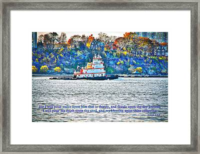 Stay Afloat With Hope Framed Print by Terry Wallace