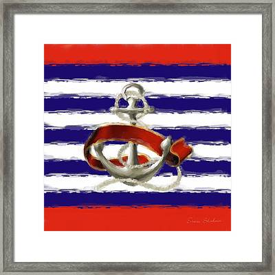 Stay Anchored Framed Print