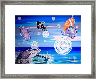 Stay And Play Framed Print by Phyllis Kaltenbach
