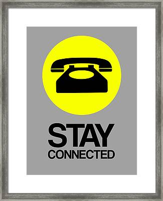 Stay Connected 1 Framed Print by Naxart Studio