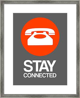 Stay Connected 2 Framed Print by Naxart Studio