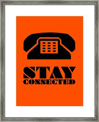 Stay Connected 3 Framed Print by Naxart Studio