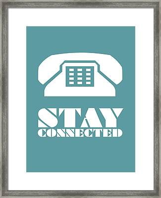Stay Connected 4 Framed Print by Naxart Studio