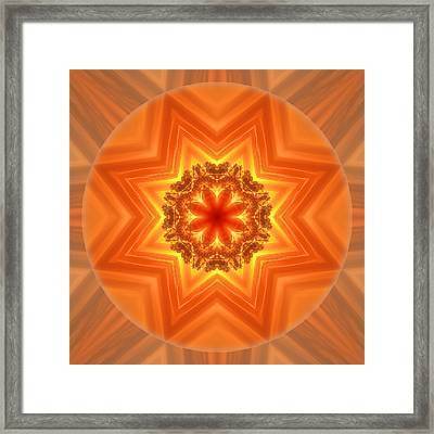 Stay Connected Mandala Framed Print