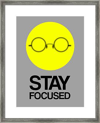 Stay Focused Circle Poster 2 Framed Print by Naxart Studio